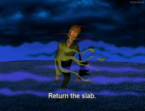 courage the cowardly return the slab lets be honest this was the most terrifying thing of your childhood