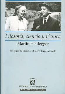 Gestell Heidegger by Biblioteca Arcos Vi 241 A Novedades Filosof 237 A Ciencia Y