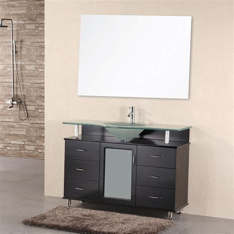 design element bathroom vanities shop design element huntington espresso integrated single sink bathroom vanity with tempered