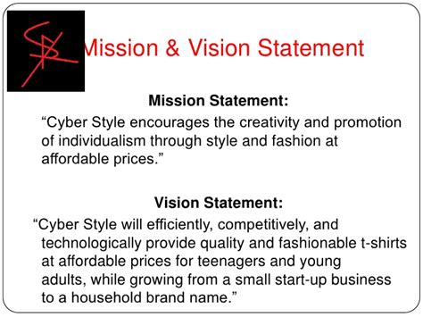 mission and vision of clothing company vision statement exles for business yahoo image