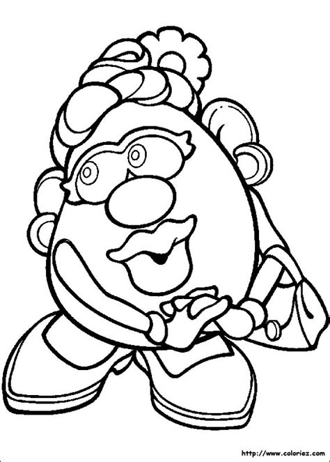 free mr potato head shape coloring pages