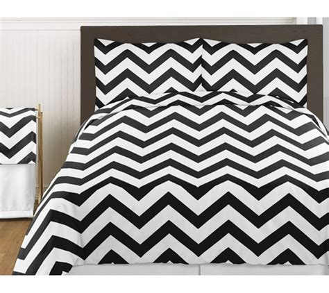 chevron bedding queen black and white chevron 3pc childrens and teen zig zag