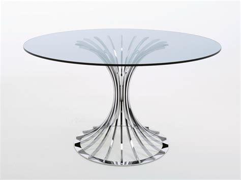 tavoli rotondi in cristallo tavolo rotondo in cristallo bellafonte by misuraemme