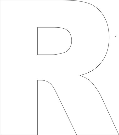 outline capital a 7 best images of large printable alphabet letter r