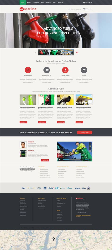 Oil And Gas Company Site Template Gas Station Website Template