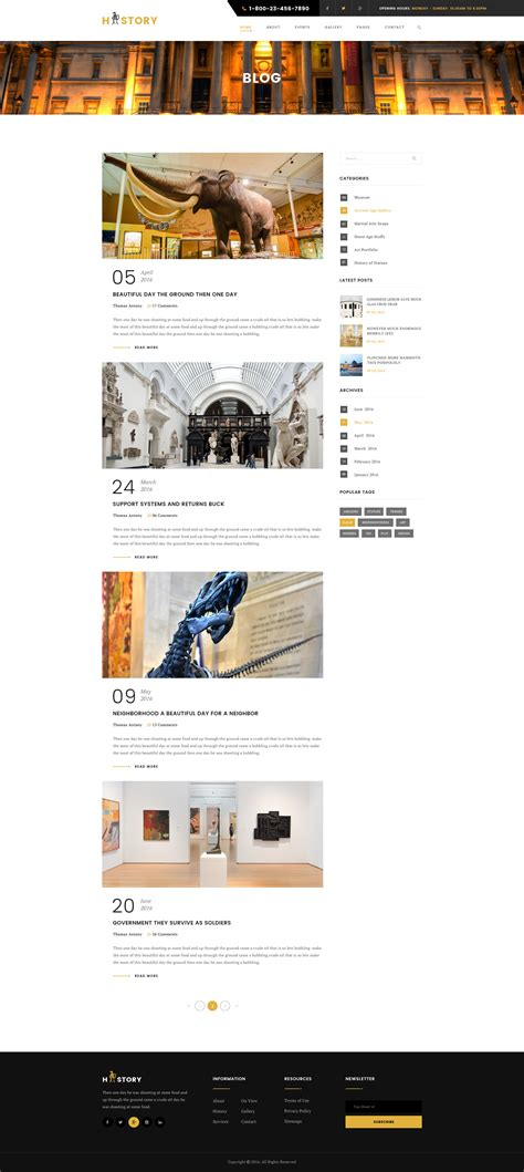 history templates for blogger history museum psd template by wpmines themeforest