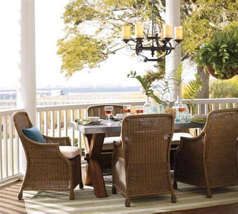 Abbott Zinc Top Dining Table Abbott Zinc Top Rectangular Fixed Dining Table Saybrook Armchair Set Pottery Barn