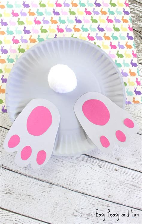 Bunny Paper Plate Craft - bunny paper plate craft easy peasy and