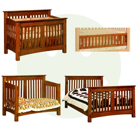 Solid Wood Convertible Cribs Mccoy Convertible Baby Crib Made In Usa Solid Wood American Eco Furniture