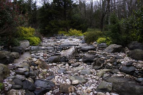 stream bed creating a dry streambed boulder placement