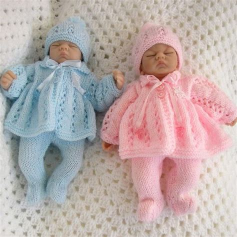 baby doll knitting patterns uk knitting pattern 10 quot doll premature baby available as a