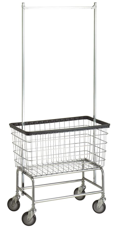 Laundry Cart With Hanging Rack by Large Laundry Cart W Garment Rack Clotheslines