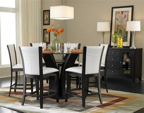 dining rooms tables homelegance daisy round glass top counter height dining