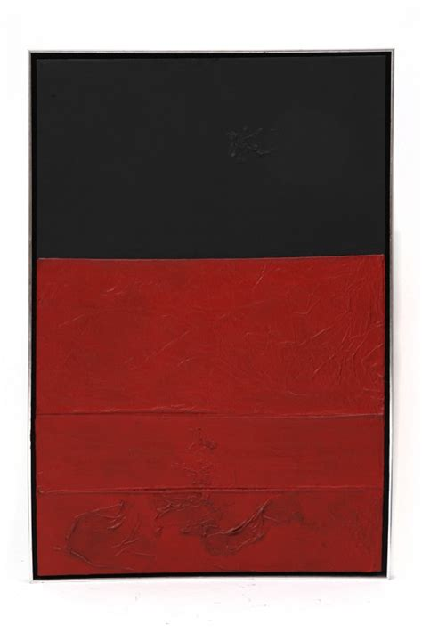 Bart Smith Textured Color Block Painting   red modern