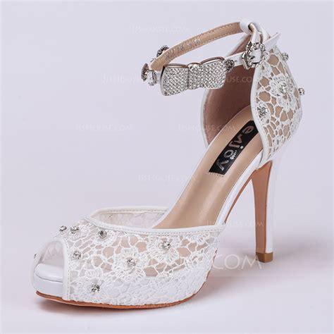 Lace Peep Toe Heel Sandals s lace stiletto heel peep toe sandals wedding