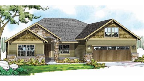 Craftsman House Designs Single Story Craftsman House Plans Craftsman House Plan House Plans Craftsman Mexzhouse