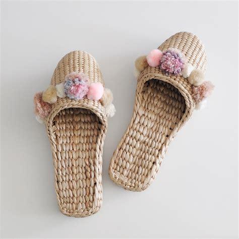 Fashion Pompom 6621 fortune handwoven pom pom house slippers garmentory