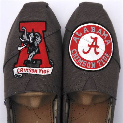alabama crimson tide high heels 17 best images about my painted shoes painted custom