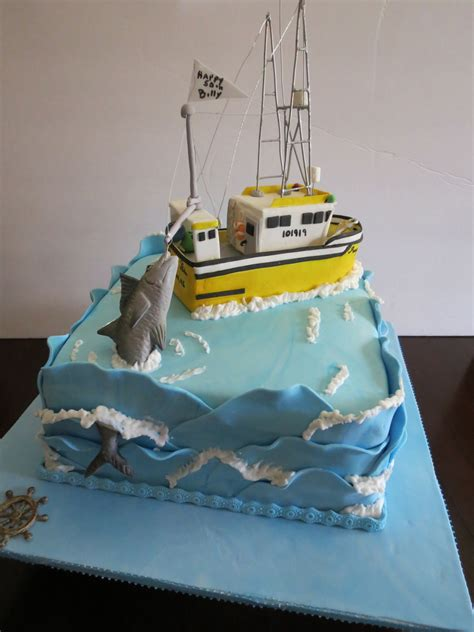 fishing boat cake this is a birthday cake for my friends husbandit is a