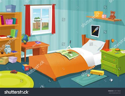 cartoon girls bedroom some kid bedroom illustration cartoon children stock