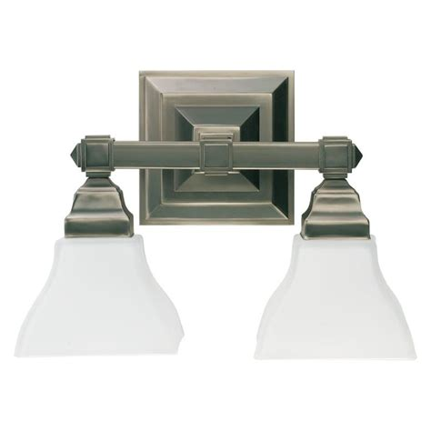 Craftsman Bathroom Lighting Quorum International 5420 2 92 Antique Silver Craftsman 2 Light Bathroom Vanity Light
