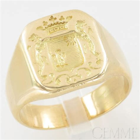 Chevaliere Armoirie by Bague Chevali 232 Re Or Jaune Armori 233 E Cachets 224 Cire Et
