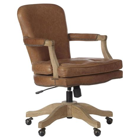 brown leather desk chair baedekar aged leather desk chair oka