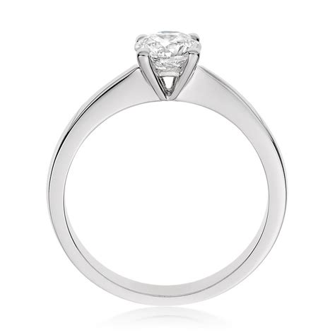simple engagement rings white gold www imgkid the