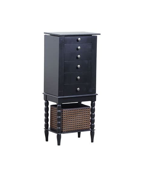 powell ebony jewelry armoire powell alanis jewelry armoire black pw 144 045rpo at