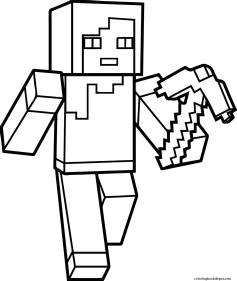 Minecraft Hd Draw Coloring Pages How To Make A Coloring Book