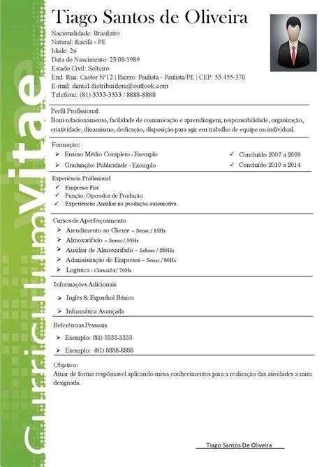 baixar curriculum vitae brasil 2