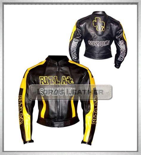 biker safety jackets rizla motogp black hump biker leather safety jacket