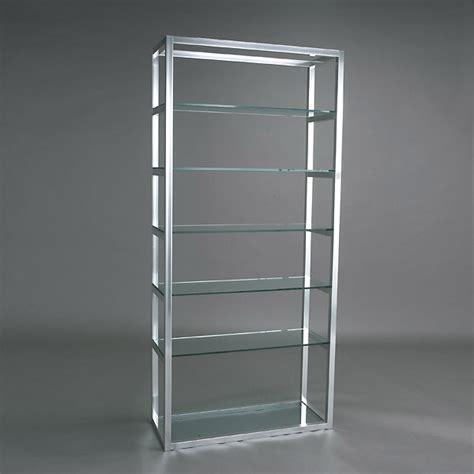 Glass Shelf Unit by 14 Chrome And Glass Shelf Unit Lot 14