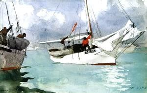 fishing boats key west by winslow homer winslow homer the complete works taking on wet
