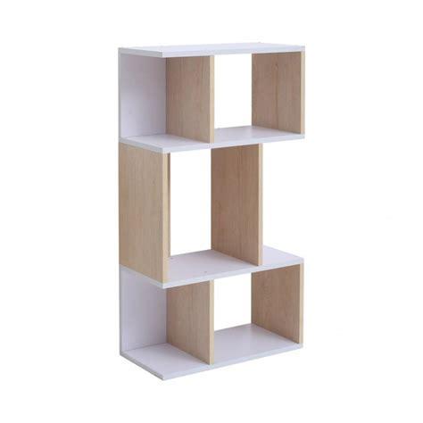 libreria mensole libreria scandinava in legno bianco con 4 mensole mobili