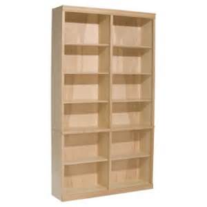 unfinished wood bookshelves alder 84 x 48 wide classic bookcase unfinished furniture