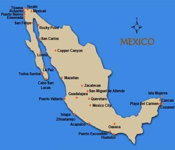 east coast of mexico map mexico east coast map