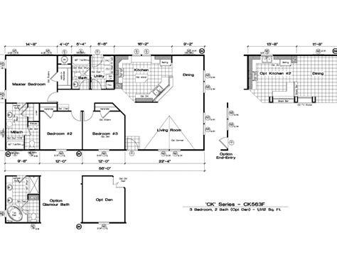 golden west manufactured homes floor plans golden west quot ck quot series floor plans 5starhomes manufactured homes