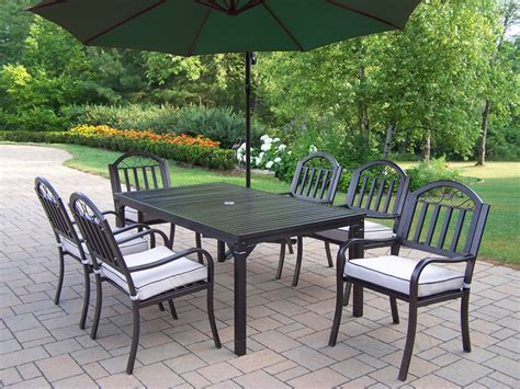 Steel Patio Furniture Sets Furniture Outdoor Top Table With Black Iron Chair Using Base As Well As Metal