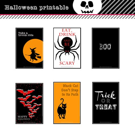 Printable Halloween Note Cards | printable halloween 4x6 post note cards