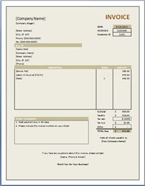 Free House Rental Invoice Rent Receipt Template Microsoft Word Templates Invoice Rental Property Invoice Template