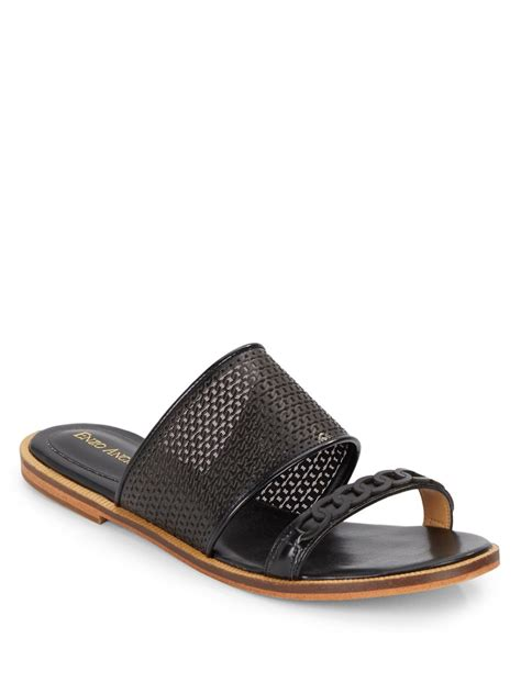 enzo angiolini sandals enzo angiolini jioni slide sandals in black lyst