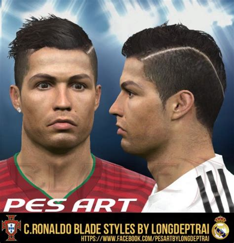 pes 2013 new hair styles 2015 pes patch pes 2015 c ronaldo new hair by longdeptrai pes patch