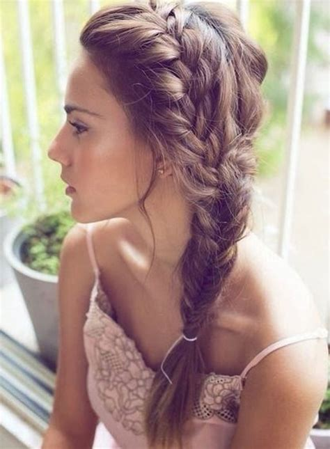 fishtail braid on the side fishtail summer side plaits for prom