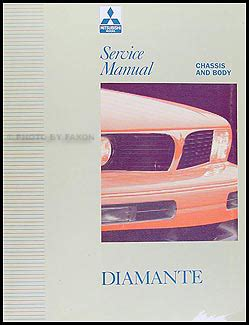 service and repair manuals 1996 mitsubishi diamante user handbook 1992 1996 mitsubishi diamante repair shop manual set original