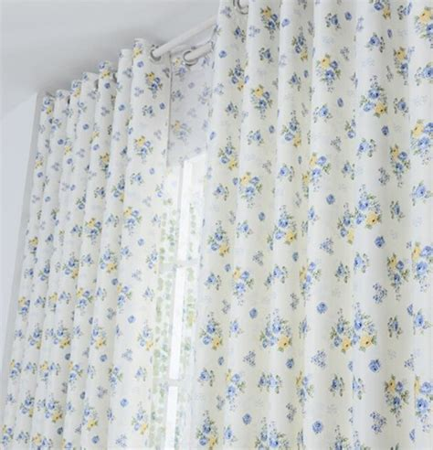 light blue floral curtains light blue floral polyester privacy country curtains