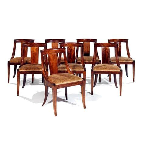 suite de huit chaises en gondole de style louis philippeen a
