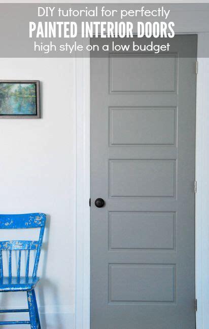 gray interior doors diy gray painted interior doors paint