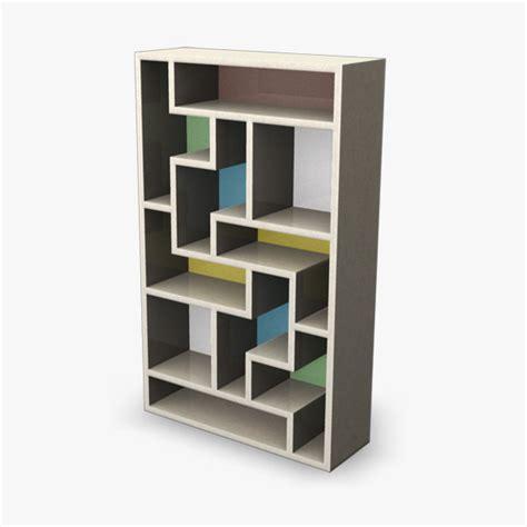 3d bookcase retro model
