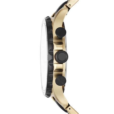 Nate Chronograph Gold Tone Stainless Steel nate 50mm chronograph black silicone and gold tone